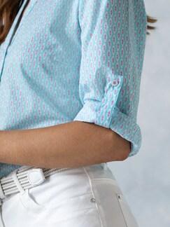 Portofino Baumwoll Bluse Minimalprint Detail 4
