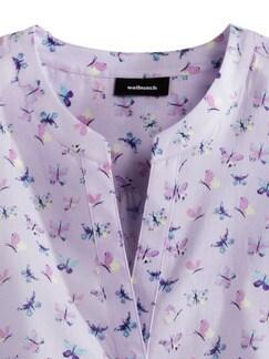 Portofino Baumwoll Bluse Schmetterlinge Detail 4