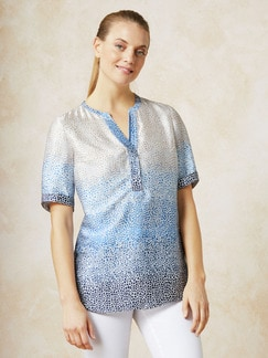 Shirtbluse Degrade Blau/Weiß Detail 1
