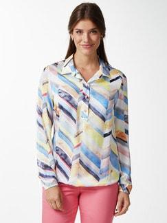 Viskose Shirtbluse Farbenspiel Multicolor Detail 1