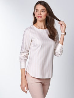 Extraglatt Pima-Cotton Shirtbluse Rose Detail 1