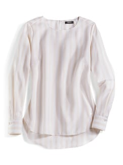 Extraglatt Pima-Cotton Shirtbluse Rose Detail 3
