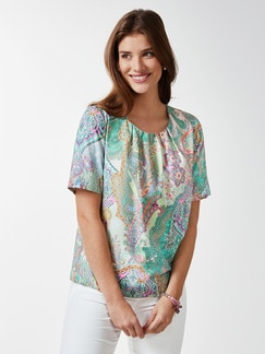 Shirtbluse Sommerpaisley Mint Detail 1