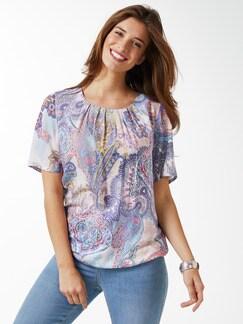 Shirtbluse Sommerpaisley Hellblau Detail 1