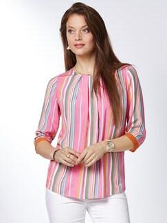Viskose-Streifen-Shirtbluse Papaya/Pink Detail 1
