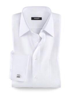 Extraglatt-Hemd Umschlagmanschette Weiß Detail 1