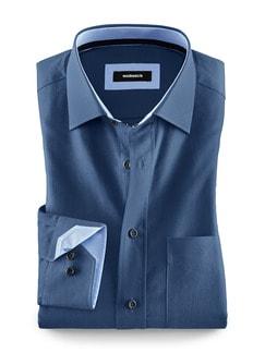 Leichtflanell-Hemd Blau Detail 1