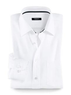 Extraglatt-Hemd Oxford Weiß Detail 1