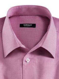 Extraglatt-Hemd Walbusch-Kragen Hahnentritt Magenta Detail 3