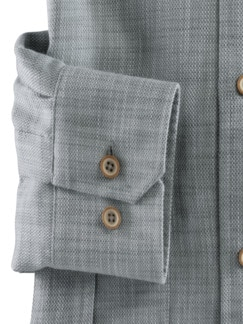 Poren-Klimahemd Uni Khaki Detail 4