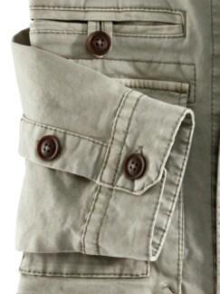 Hemdjacke Garment Dyed Khaki Detail 4