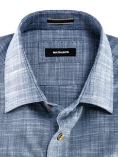 10-Taschen-Safarihemd Uni Blau Detail 3