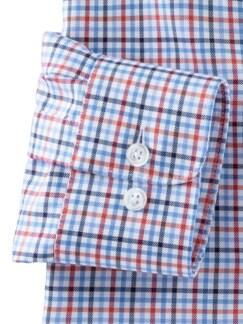 Masterclass-Hemd Vichy Blau Rot Detail 4