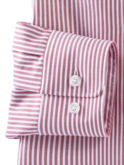 Masterclass-Hemd Str. Rot Weiss Detail 4