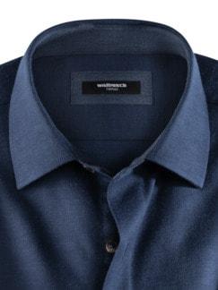 Softflanell-Hemd Uni Blau Detail 3