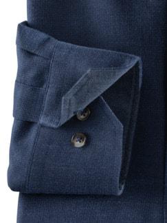 Softflanell-Hemd Uni Blau Detail 4