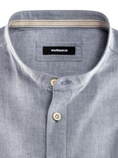 Wüsten-Hemd Uni Jeansblau Detail 3