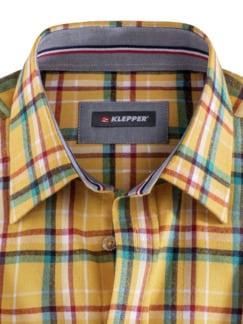 Klepper Hemd Thermolite Karo Gelb/Petrol Detail 3