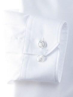 Stehkragen-Hemd Extraglatt Uni Weiss Detail 4