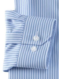 Stehkragen-Hemd Extraglatt Streifen Blau Detail 4