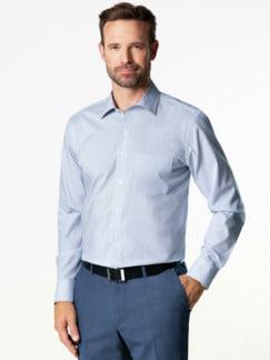 Extraglatt-Hemd Kent-Kragen Bicolor gestreift Detail 2
