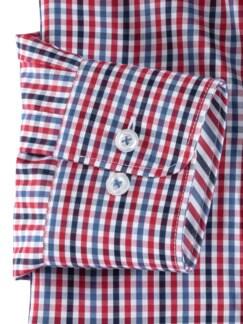 Extraglatt-Hemd Wechselkragen Vichykaro Blau Detail 4