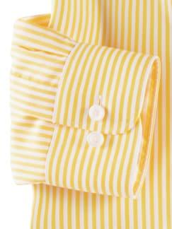 Extraglatt-Hemd Römerstreifen Gelb Detail 4