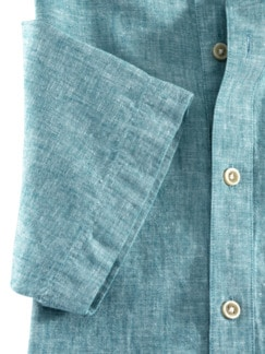 Oasen-Shirt Uni Lagune Detail 4
