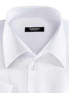 Extraglatt-Hemd Walbusch-Kragen Weiß Detail 3