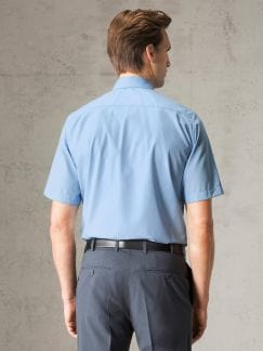 Extraglatt-Hemd Walbusch-Kragen Hellblau Detail 3