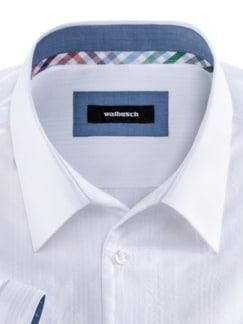Seersucker-Hemd Frischekick Uni Weiss Detail 3