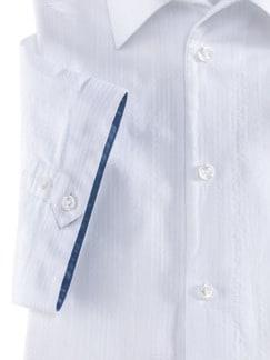 Seersucker-Hemd Frischekick Uni Weiss Detail 4