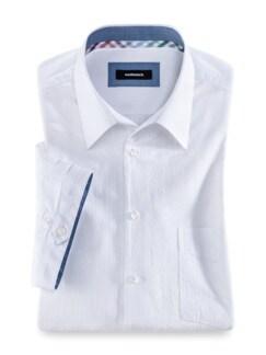 Seersucker-Hemd Frischekick Uni Weiss Detail 1