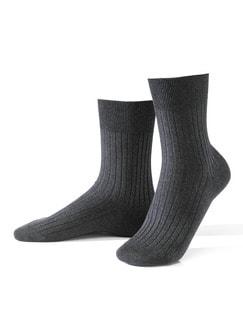 Baumwoll-Socke 2er-Pack Anthrazit Detail 1