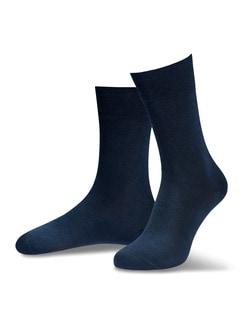 Pima Cotton Socke 2er-Pack Marine Detail 1