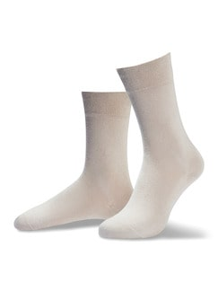 Pima Cotton Socke 2er-Pack Braun/Beige Detail 1