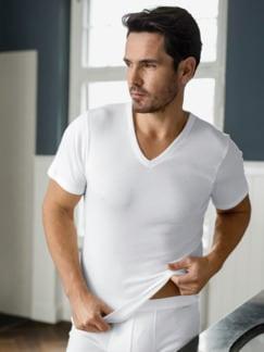 Masterclass-V-Shirt 2er-Pack Weiß Detail 4