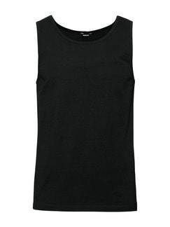 Cotton-Stretch Unterhemd 2er-Pack Schwarz Detail 1