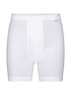 Feinripp-Shorts 2er-Pack Weiß Detail 2