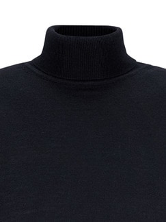 Merino-Mix Rollkragen-Pullover Marine Detail 4