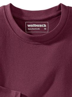 Langarm-Shirt Rundhalsausschnitt Burgund Detail 3