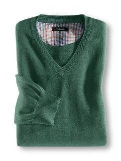 Baumwoll Pullover Grün Detail 1