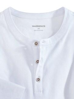 Henley-Shirt Weiß Detail 3