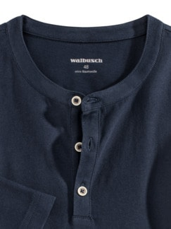 Henley-Shirt Marine Detail 4