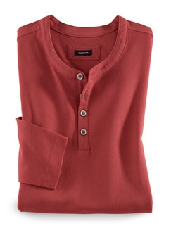 Henley- Shirt Terra Detail 1