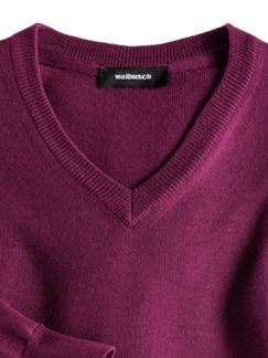 Merino-Mix V-Pullover Magenta Detail 3
