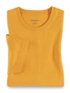 T-Shirt Rundhalsausschnitt Safran Detail 1