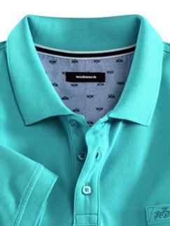 Pique-Polo Pima Cotton Aqua Detail 3