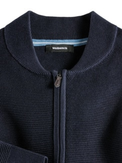 Zip-Strickjacke Soft Cotton Navy Detail 3