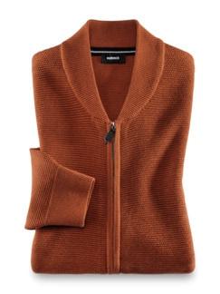 Zip-Strickjacke Soft Cotton Terra Detail 1